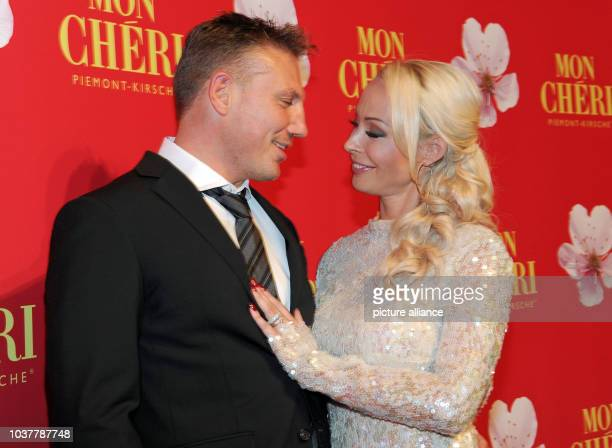 Cora Schumacher and her companion Zimbo attend the Barbara Day celebrations hosted by chocolate manufacturer Mon Cheri in Munich Germany 4 December...