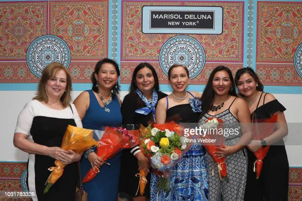Cora Solar Judy Sanders Ida De La Rosa Ellis Marisol Deluna Taylor Davila and Julia Davila pose after the Marisol Deluna New York Fashion Week...