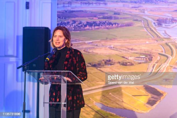 Cora van Nieuwenhuizen Minister of Infrastructure and Water management during the official opening of the Reevediep waterway on March 14 2019 in...
