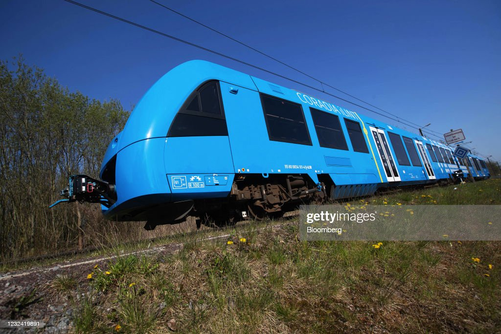 Alstom SA Hydrogen Powered Train Assembly And Operations : News Photo