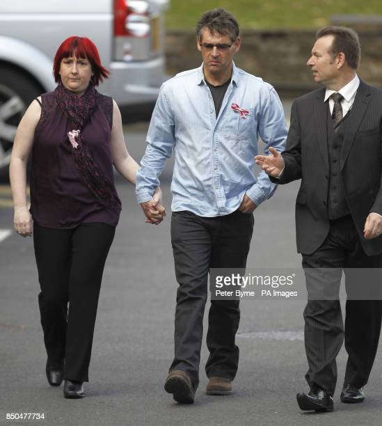 Coral and Paul Jones the parents of April Jones arrive at Mold Crown Court where Mark Bridger is charged with abducting and murdering April and of...