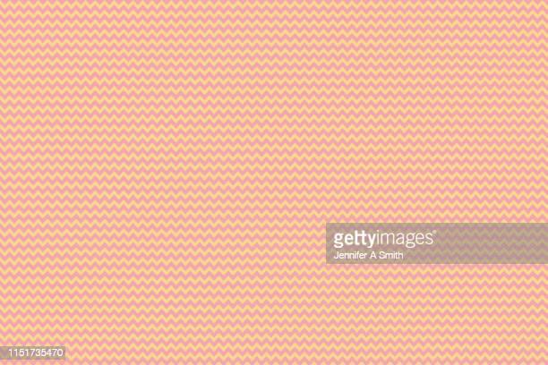 coral and yellow chevron design - 山形模様 ストックフォトと画像