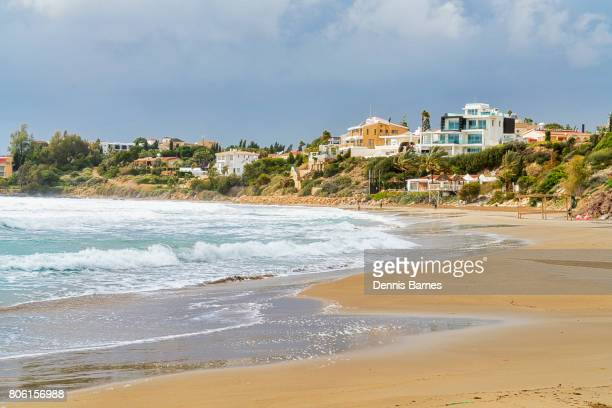 coral bay beach near paphos, pafos, cyprus - パフォス ストックフォトと画像