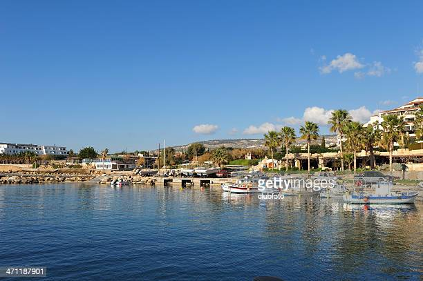 coral bay harbour, paphos, cyprus - cyprus island stock pictures, royalty-free photos & images