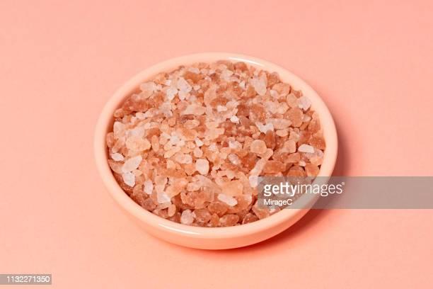 Coral Colored Himalayan Salt in Dsih