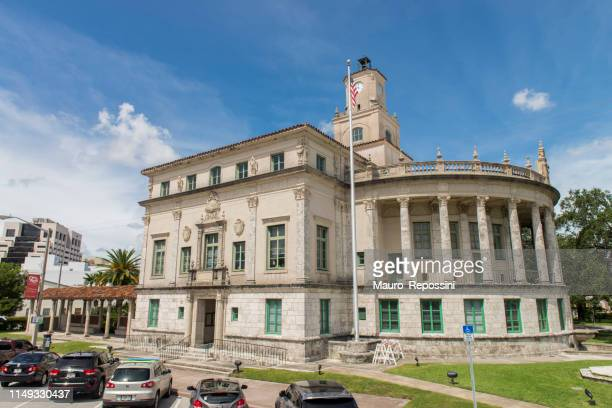 coral gables city hall building at coral gables, miami, florida state, usa. - coral gables stock pictures, royalty-free photos & images