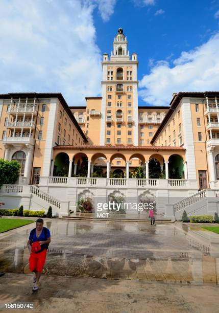 Coral Gables the Biltmore Hotel seen after a rainfall has recently undergone a fine renovation