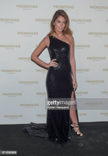 Coral Simanovich attends the Pronovias Show during Barcelona Bridal Fashion Week 2017 held at the Museu Nacional d'Art de Catalunya on April 28 2017...