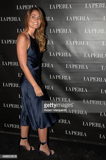 Coral Simanovich poses during a photocall for the 'La Perla' store opening on November 26 2015 in Barcelona Spain