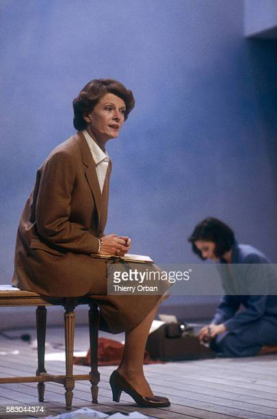Coralie and Delphine Seyrig act in a scene from Sylvia Plath's play Letters Home in Paris