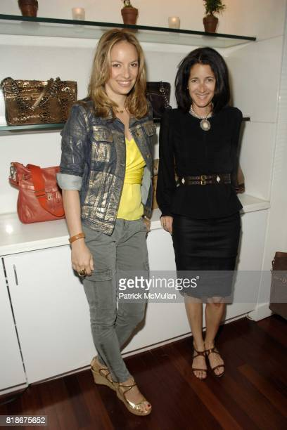Coralie Charriol and Amanda Ross attend CORALIE CHARRIOL LUNCHEON TO PREVIEW HER NEW HANDBAG COLLECTION CLILI at Hudson Hotel on June 9 2010 in New...