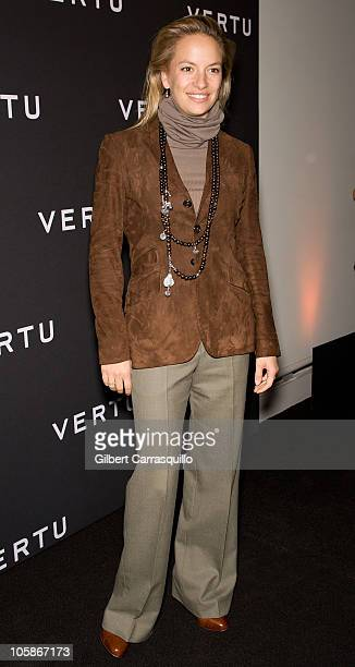 Coralie Charriol Paul attends the launch of Vertu's smartphone at Berry Hill Galleries on October 20, 2010 in New York City.