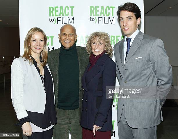 Coralie Charriol Paul Harry Belafonte Pamela Belafonte and Dennis Paul attend the Sing Your Song screening at the Museum of Modern Art on January 10...
