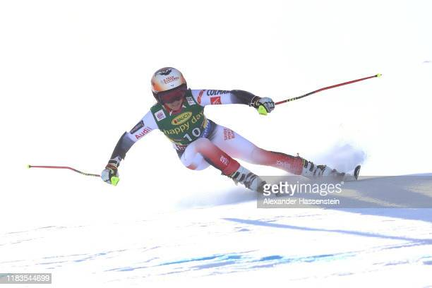 Coralie Frasse Sombet of France competes during the Audi FIS Alpine Ski World Cup Women's Giant Slalom at Rettenbachferner on October 26 2019 in...