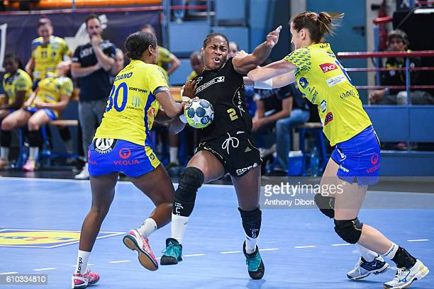 Coralie Lassource of Issy Paris during the Division 1 match between Issy Paris and Metz on September 25 2016 in Creteil France