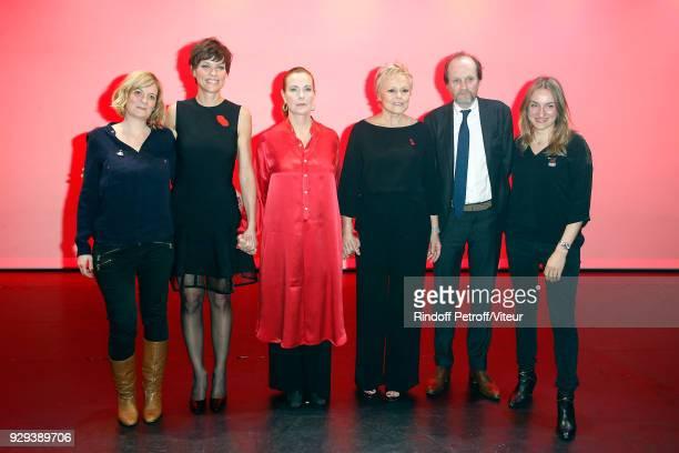 Coralie Miller Anne Le Nen Carole Bouquet Muriel Robin JeanMarc Dumontet and Marie Astrid Perimony attend 'Les Monologues du Vagin' during 'Paroles...