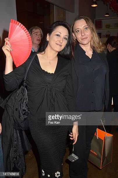 Coralie Trinh Thi and Virginie Despentes attend the 'Prix Bel Ami 2012' Women Literary Awards at the Hotel Bel Ami on March 22 2012 in Paris France
