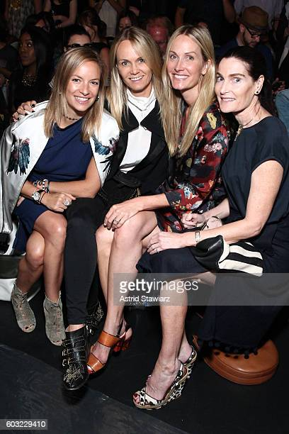 Coraline Charriol Paul Christine Mack Lise Evans and Jennifer Creel attends the Taoray Wang fashion show during New York Fashion Week The Shows at...