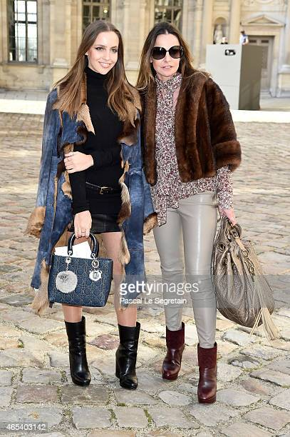 Coraline Ginola and guest attend the Christian Dior show as part of the Paris Fashion Week Womenswear Fall/Winter 2015/2016 on March 6 2015 in Paris...