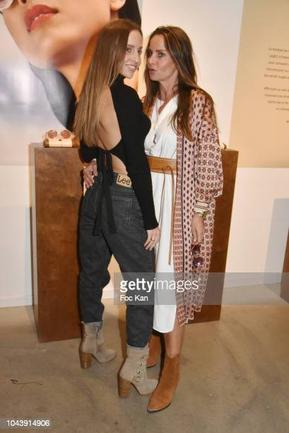 Coraline Ginola wife of footballer David Ginola and her daughter Carla Ginola attend the Garrett Leight Party Hosted by Opticiens Eye Like at 27 Rue...