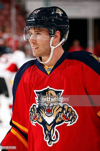 Corban Knight of the Florida Panthers skates on the ice prior to the start of the game against the Ottawa Senators at the BBT Center on December 22...