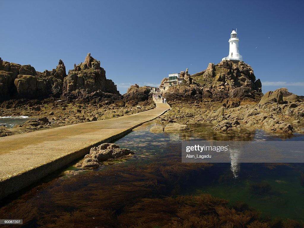 Corbiere Lighthouse,Jersey. : Stock Photo