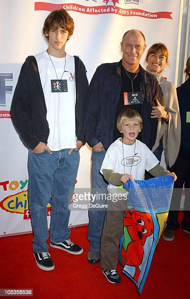 Corbin Bernsen Amanda Pays and family during 2004 Dream Halloween Fundraiser For Children Affected by AIDS Foundation at Barker Hangar in Santa...