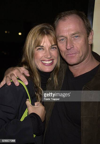 Corbin Bernsen and his wife Amanda Pays arriving to attend the premiere of the film 'Pay it Forward'