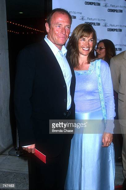 Corbin Bernsen and his wife Amanda Pays attend the Los Angeles premiere of the new movie Return to Me in Century City California April 3 2000