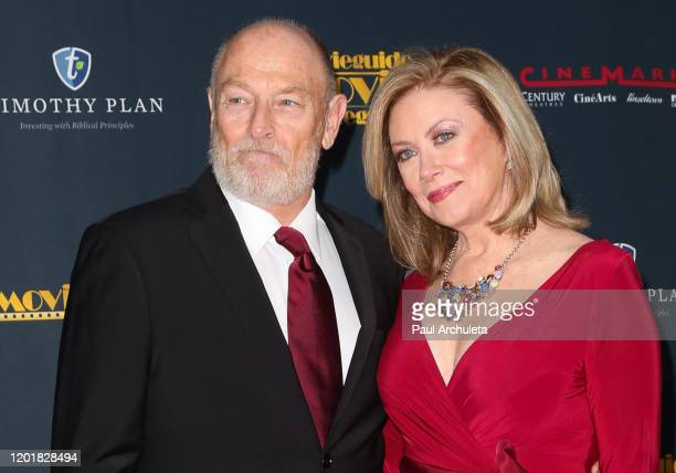 Corbin Bernsen and Nancy Stafford attend the 28th Annual Movieguide Awards Gala at Avalon Theater on January 24 2020 in Los Angeles California