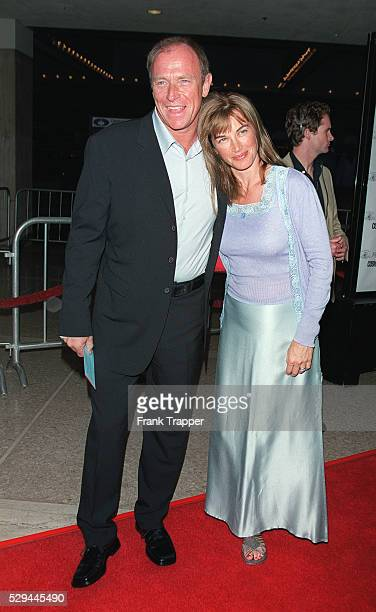 Corbin Bernsen arrives with his wife the actress Amanda Pays