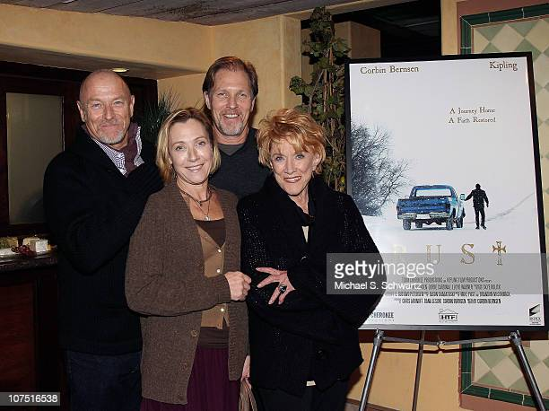 Corbin Bernsen Caren Bernsen and Collin Bernson pose with their mother actress Jeanne Cooper at the screening of Rust at Raleigh Studios on December...