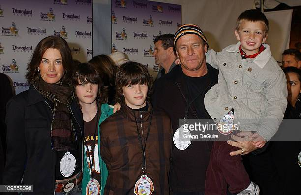 Corbin Bernsen wife Amanda Pays and kids during Snow White An Enchanting New Musical Premiere Arrivals at Fantasyland Theatre at Disneyland in...
