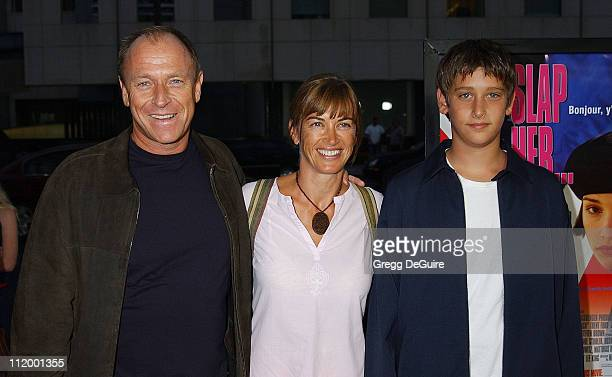 Corbin Bernsen wife Amanda son Oliver during Slap HerShe's French Premiere at Academy Sam Goldwyn Theatre in Beverly Hills California United States