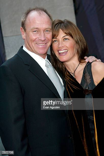 Corbin Bernsen with wife Amanda Donohoe arriving at the NBC 75th Anniversary Celebration at Rockefeller Plaza in New York City May 5 2002 Photo Evan...