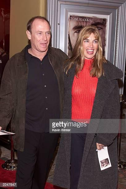 Corbin Bernson and his wife Amanda Pays at the premiere of 'Castaway' at the Village Theater in Los Angeles Ca 12/7/00