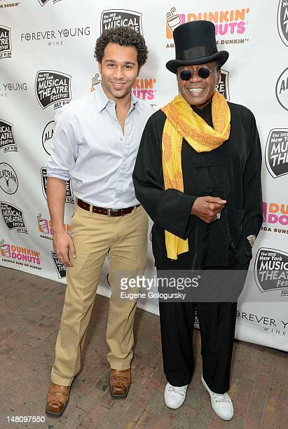 Corbin Bleu and Ben Vereen attend the 2012 New York Musical Theatre Festival Opening Night Gala at Hudson Terrace on July 9 2012 in New York City