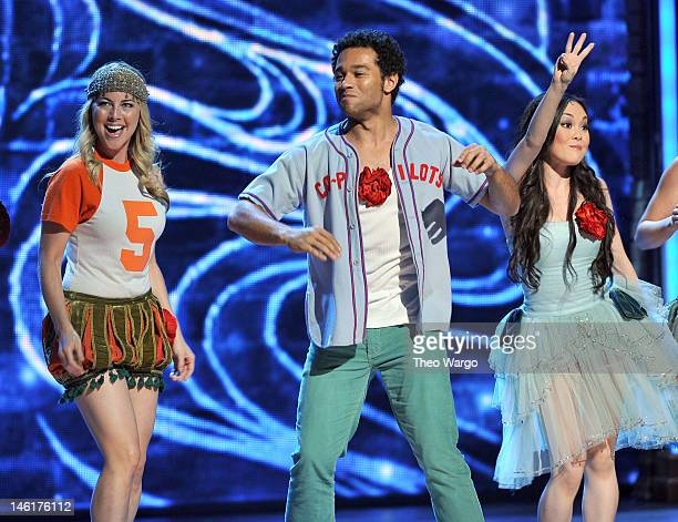 Corbin Bleu and the cast of 'Godspel' perform onstage at the 66th Annual Tony Awards at The Beacon Theatre on June 10 2012 in New York City