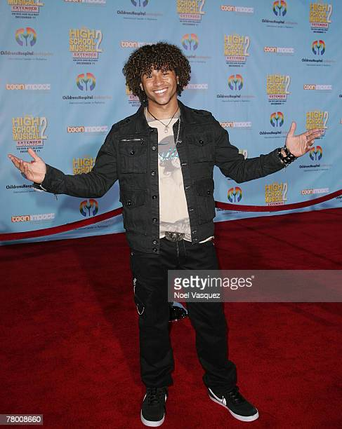 Corbin Bleu arrives at the DVD premiere of Disney's 'High School Musical 2' held at the El Capitan Theatre on November 19 2007 in Los Angeles...