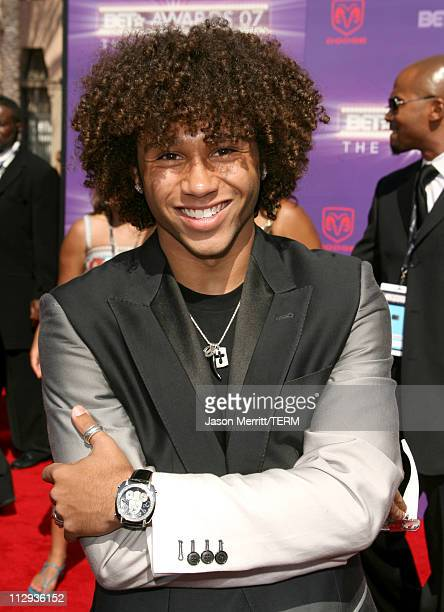 Corbin Bleu during BET Awards 2007 Arrivals at Shrine Auditorium in Los Angeles California United States