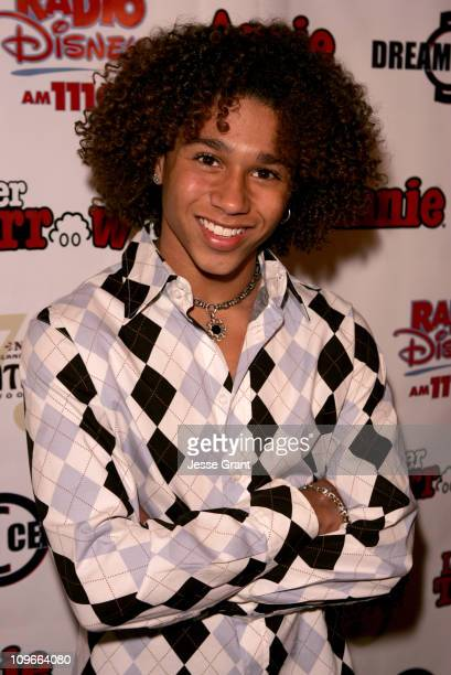Corbin Bleu during Kids Night with Cast of Annie Past Present Help Hurricane Katrina Orphans to Benefit the Dream Center LA at The Pantages Theatre...