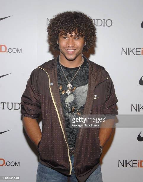 Corbin Bleu from 'High School Musical' at Niketown New York as Nike celebrates the opening of The NIkeID Studio October 20 2007 in New York