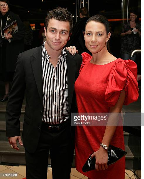 Corbin Harris and Kate Ritchie attend the Sydney premiere of Miss Saigon at the Lyric Theatre on September 22, 2007 in Sydney, Australia.