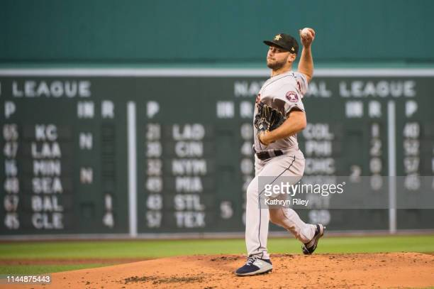 Corbin Martin of the Houston Astros pitches in the first inning against the Boston Red Sox at Fenway Park on May 18 2019 in Boston Massachusetts