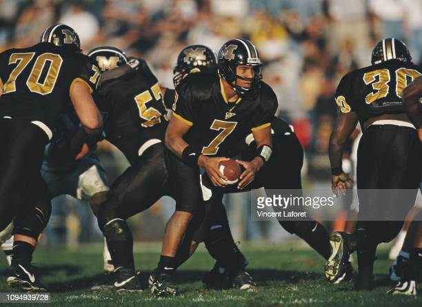 Corby Jones Quarterback for the University of Missouri Tigers during the NCAA Big12 Conference college football game against the Kansas State...