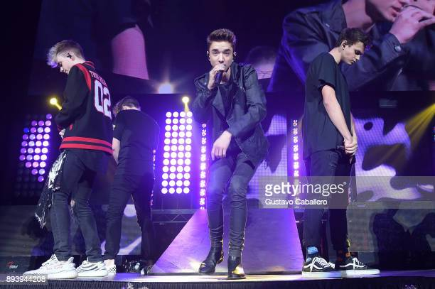 Corbyn Besson Daniel Seavey and Jonah Marais of Why Don't We perform onstage during 933 FLZ's Jingle Ball 2017 at Amalie Arena on December 16 2017 in...