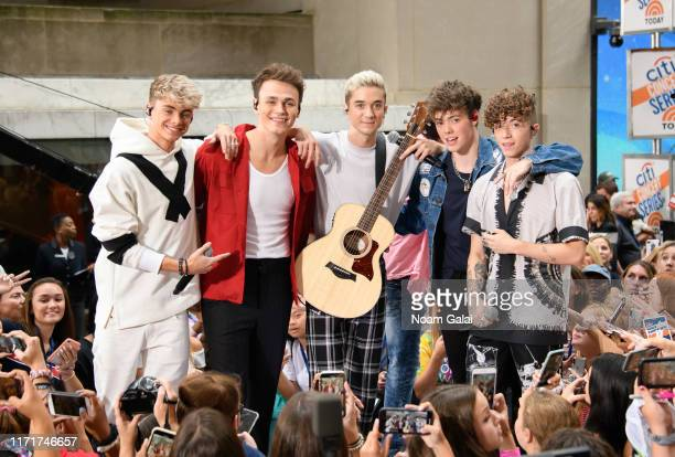 Corbyn Besson Jonah Marais Daniel Seavey Zach Herron and Jack Avery of Why Don't We attend NBC's Today at Rockefeller Plaza on September 02 2019 in...