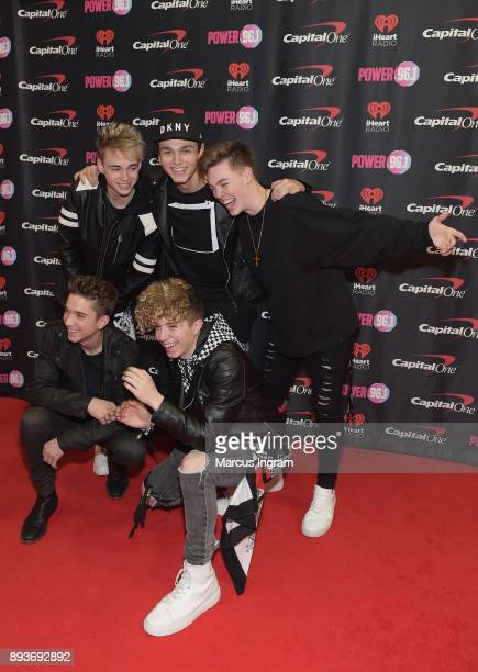 Corbyn Besson Jonah Marais Jack Avery Daniel Seavey and Zach Herron of Why Don't We attend Power 961's Jingle Ball 2017 Presented by Capital One at...