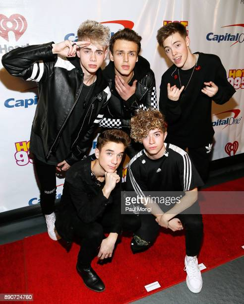 Corbyn Besson Jonah Marais Zach Herron and Daniel Seavey and Jack Avery of Why Don't We attend the Hot 995 iHeartRadio Jingle Ball 2017 at Capital...