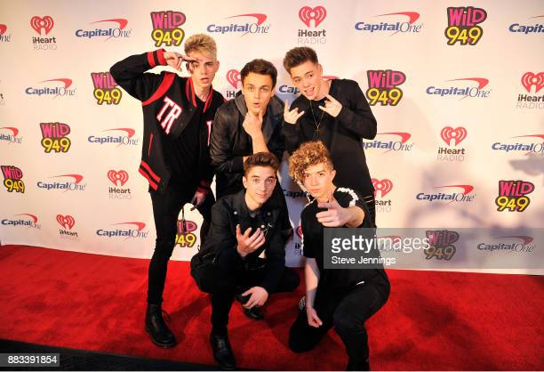 Corbyn Besson Jonah Marais Zach Herron Daniel Seavey and Jack Avery of Why Don't We attend WiLD 949's FM's Jingle Ball 2017 Presented by Capital One...
